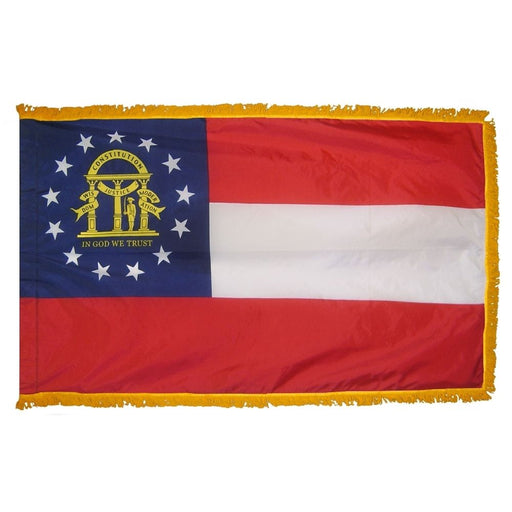 Georgia Flag with Fringe | Georgia Indoor Flag | Georgia Parade Flag