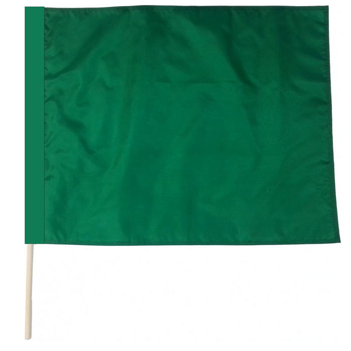 Solid Green Racing Flag