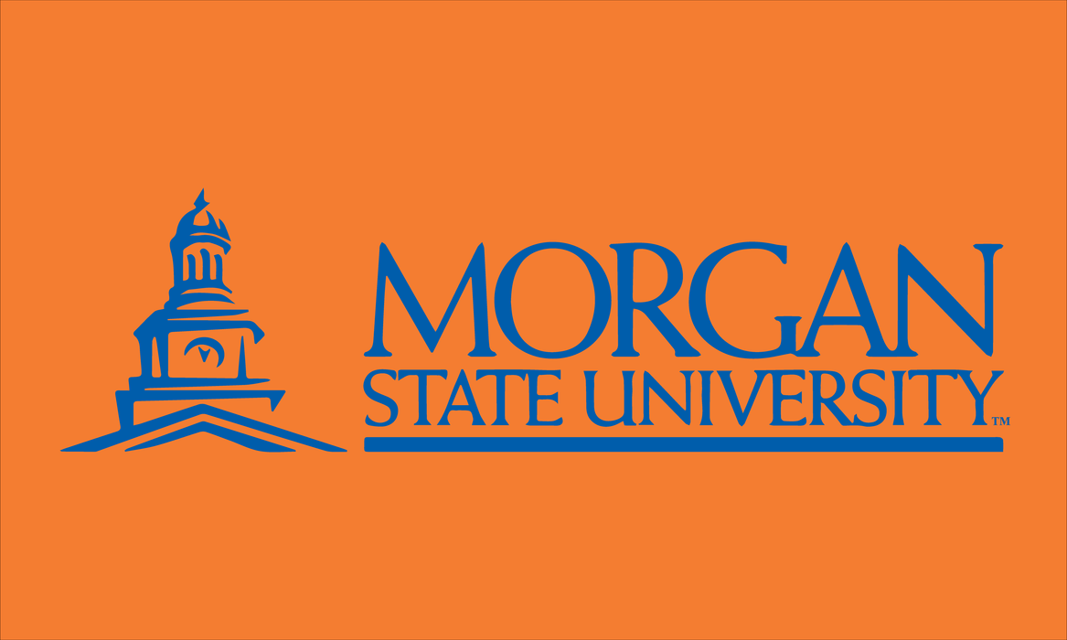 Morgan State University Printed Custom Flag - 3'x5' - Nylon - Single Reverse - Outdoor Heading & Grommets