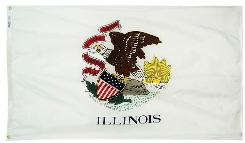 Illinois Flag For Sale - Commercial Grade Outdoor Flag - Made in USA