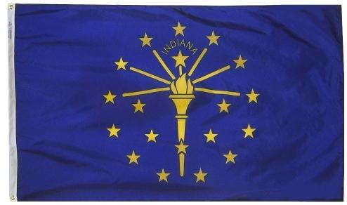 Indiana Flag For Sale - Commercial Grade Outdoor Flag - Made in USA