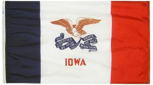 Iowa Flag For Sale - Commercial Grade Outdoor Flag - Made in USA