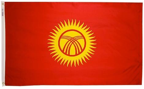 Kyrghyzstan outdoor flag for sale