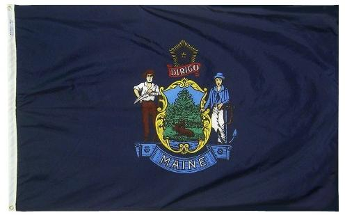 Maine Flag For Sale - Commercial Grade Outdoor Flag - Made in USA