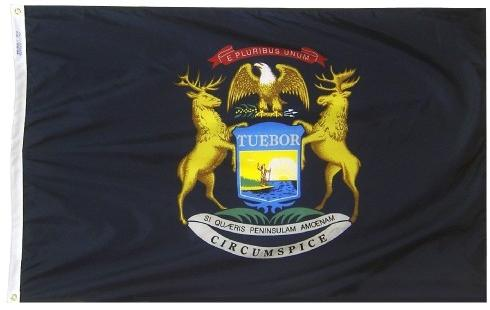 Michigan Flag For Sale - Commercial Grade Outdoor Flag - Made in USA