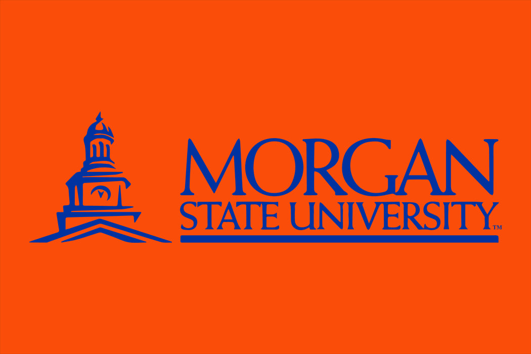 Morgan State University Printed Flag - 4'x6' - Nylon - Single Reverse - Heading & Grommets - Orange 165, Blue 286