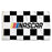 NASCAR Checkered Flag 3'x5' Single Reverse