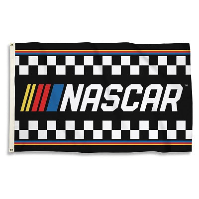 NASCAR Checkered Stripes Flag 3'x5' Single Reverse