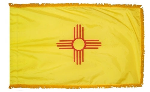 New Mexico Flag | New Mexico Parade Flag | New Mexico Flag with Fringe | New Mexico Indoor Flag