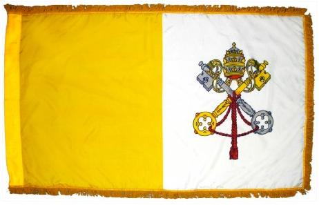 Indoor Papal Flag Set for sale