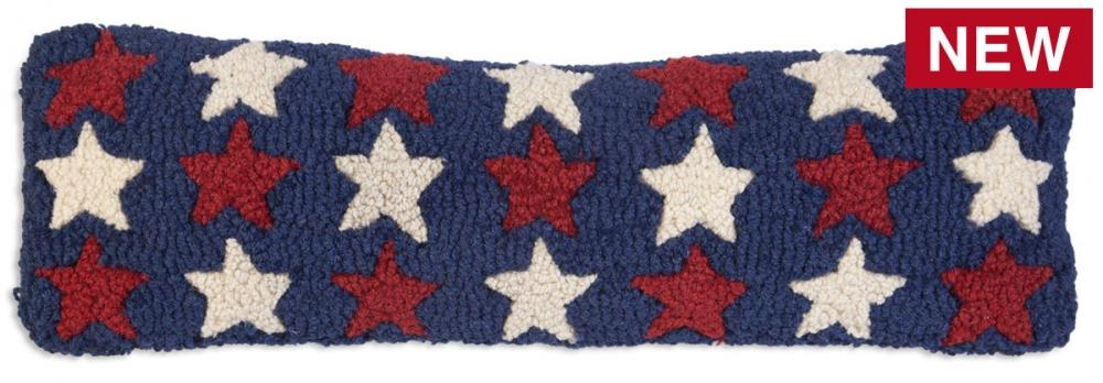 Patriotic Pillow New Zealand Wool Designed in Vermont Flagman of America