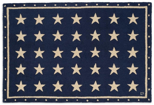 Patriotic Rug New Zealand Wool Rug Designed in Vermont Flagman of America