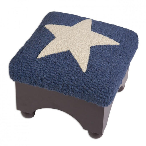 Patriotic Stool with New Zealand Wool Designed in Vermont Flagman of America