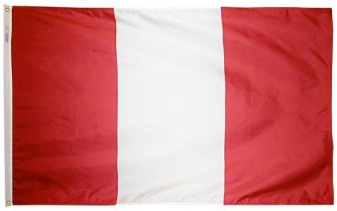 Peru Civil Outdoor Flag for sale