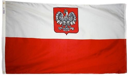 Poland With Eagle Outdoor Flag for sale