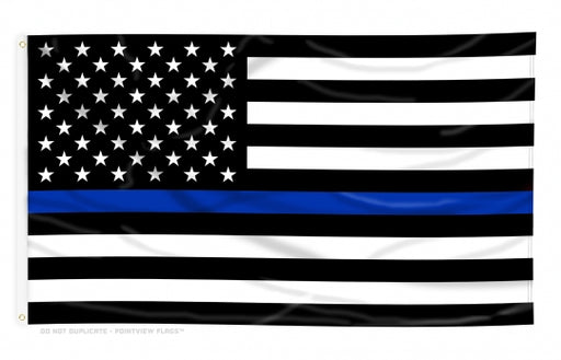 Printed Thin Blue Line American Flag *Made in USA Heavier Duty*