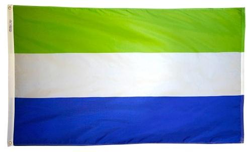 Sierra Leone outdoor flag for sale