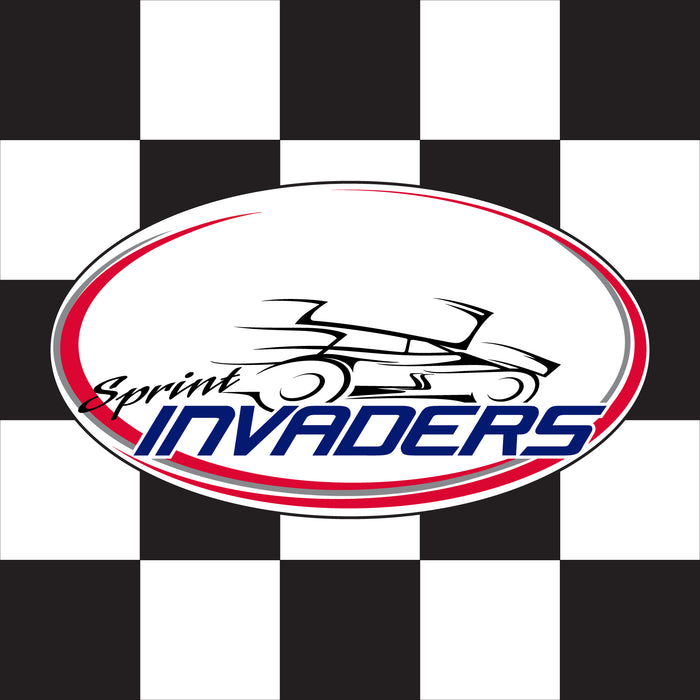"Sprint Invaders Custom Checkered - 24""x24"" - Nylon - Single Reverse - Unmounted"