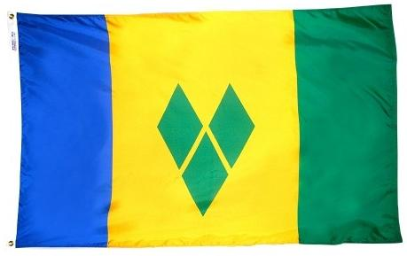 St Vincent & Grenadin outdoor flag for sale