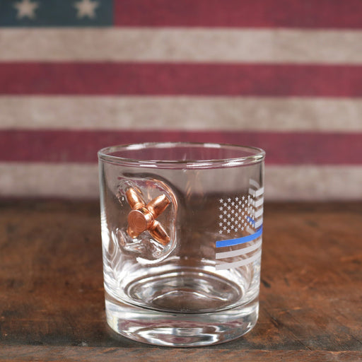Thin Blue Line Glass For Sale - Thin Blue Line Bullet Glass For Sale - Benshot