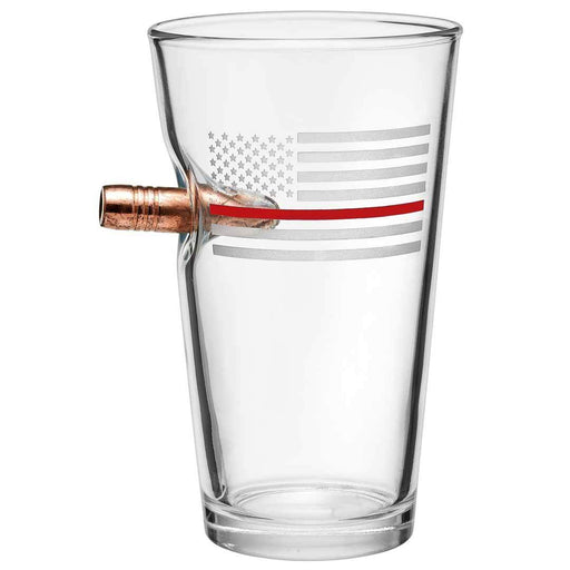 Thin Red Line Beer Glass For Sale - Thin Red Line Bullet Glass For Sale - Benshot