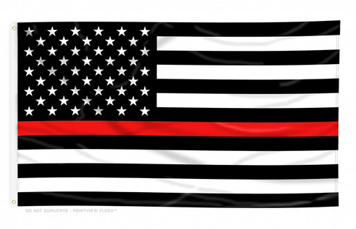 Outdoor Thin Red Line Flag | Firefighter Flag | Fire Fighter Flag