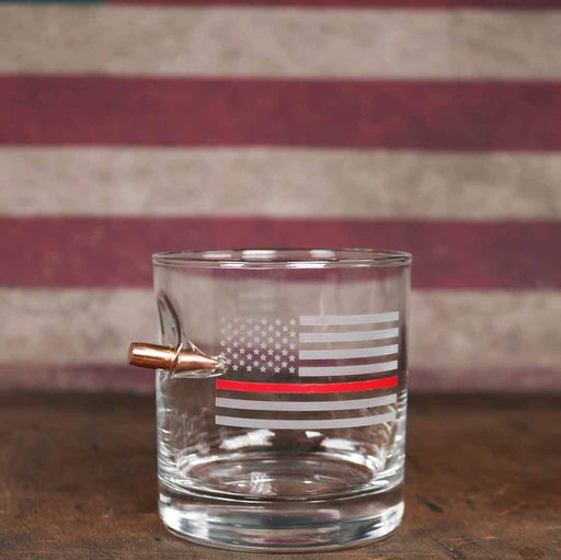Thin Red Line Rocks Glass - 11oz