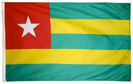 Togo outdoor flag for sale