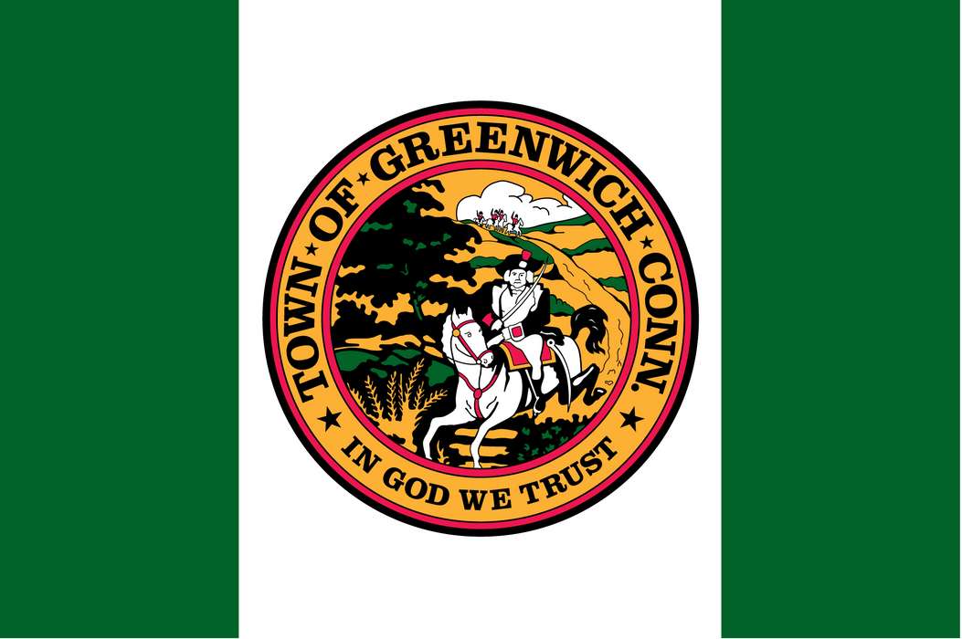 Town of Greenwich Printed Custom Flag - Nylon - Single Reverse - Heading & Grommets
