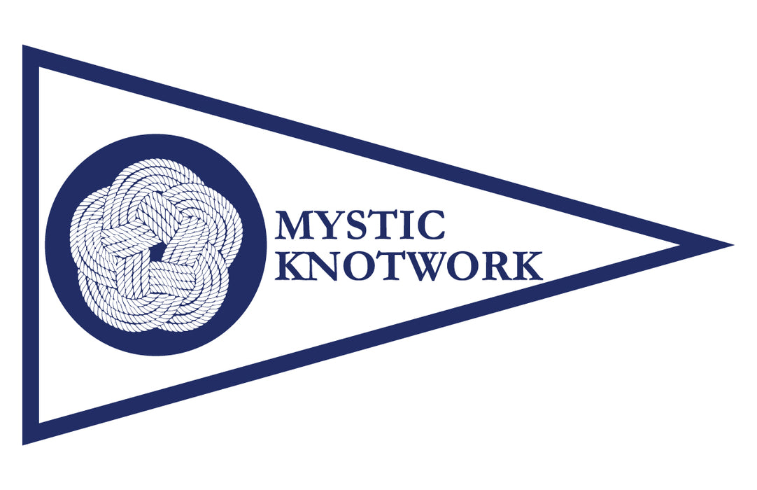 "Mystic Knotwork Custom Printed Pennant - 9""x16"" - Nylon - Double Sided w/ Liner - Heading & Grommets"