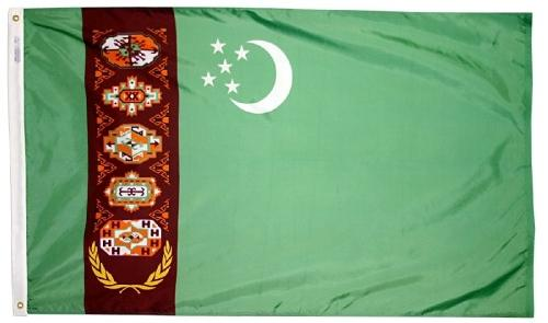 Turkmenistan outdoor flag for sale