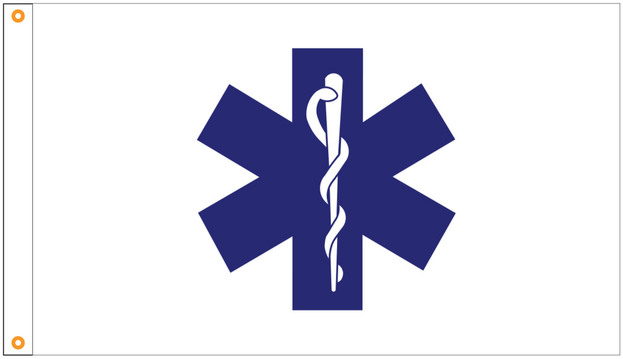 star of life flag for sale - made in usa - flagman of america