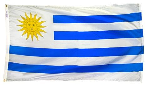 Uruguay outdoor flag for sale