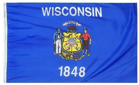 Wisconsin Flag For Sale - Commercial Grade Outdoor Flag - Made in USA