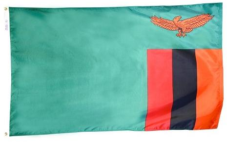 Zambia outdoor flag for sale
