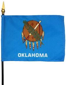 Miniature Oklahoma Flag