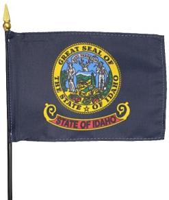 Miniature Idaho Flag