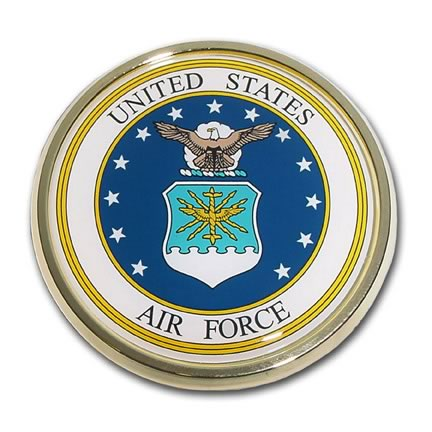air force car emblem for sale - flagman of america