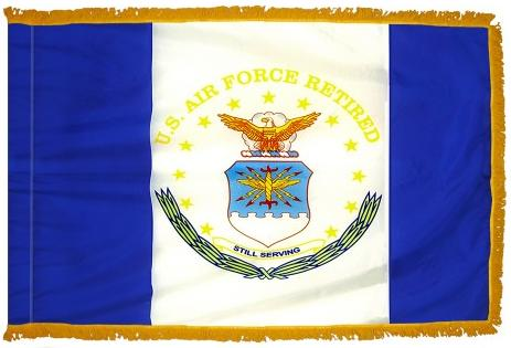 Air Force Retired Indoor/Parade Flag