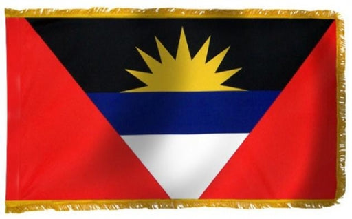 Antigua-Barbuda (UN)  Indoor Flag with Fringe