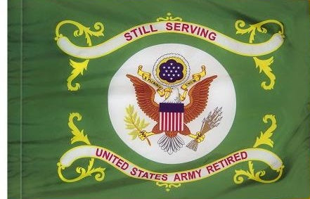 Army Retired Indoor/Parade Flag