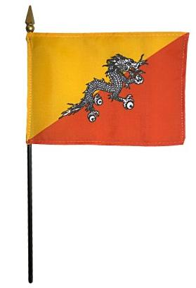 Mini Bhutan Flag for sale