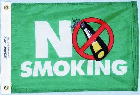 No Smoking, Novelty Flag for sale