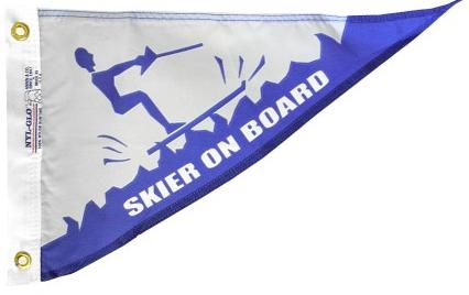 Skier on Board Pennant for sale