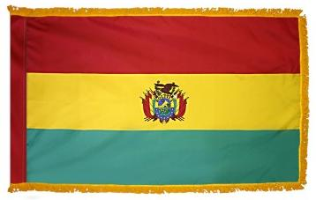 Bolivia Government Indoor Flag for sale