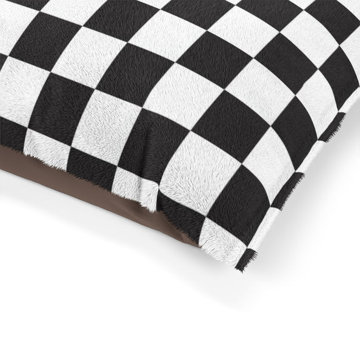 Checkered Pet Bed