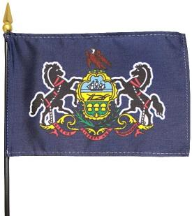 Miniature Pennsylvania Flag