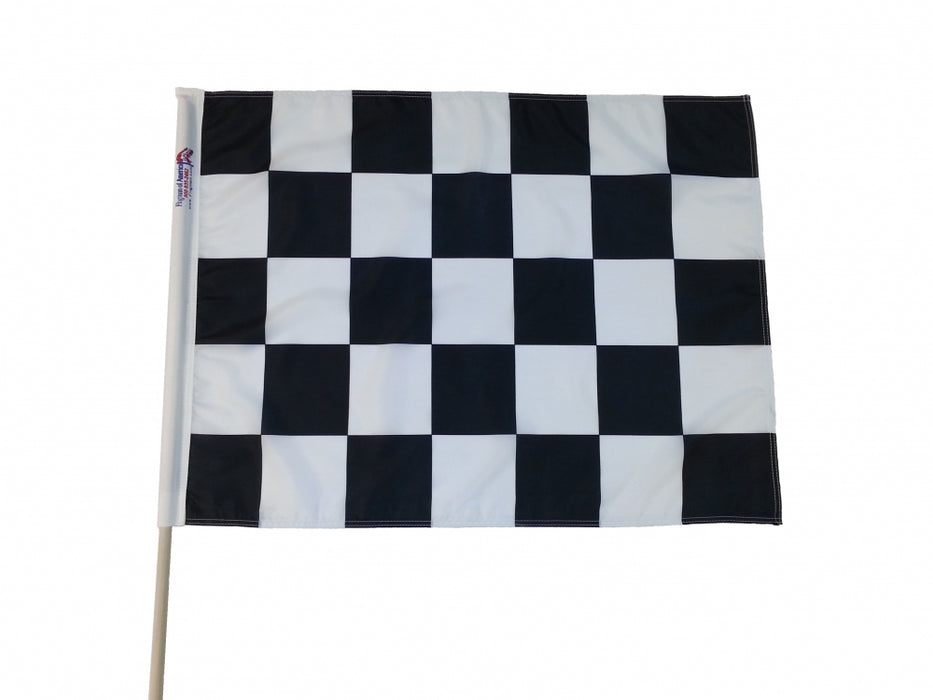 Sewn Black & White Checkered Racing Flag