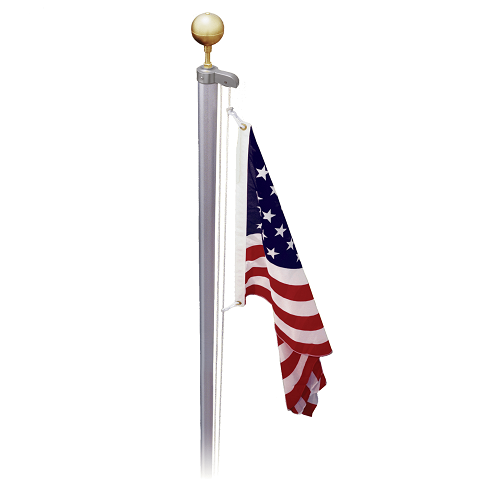 21' Sectional Flagpole - Made in USA - 5 Year Warranty
