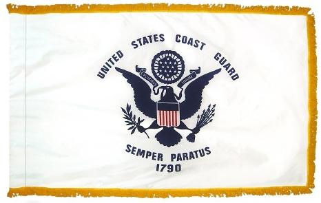 coast guard indoor flag for sale - made in usa - flagman of america